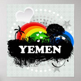 Cute Fruity Yemen Print