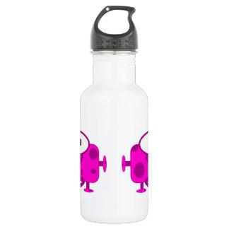 Cute Fuchsia Cartoon Monster Stainless Steel Water Bottle