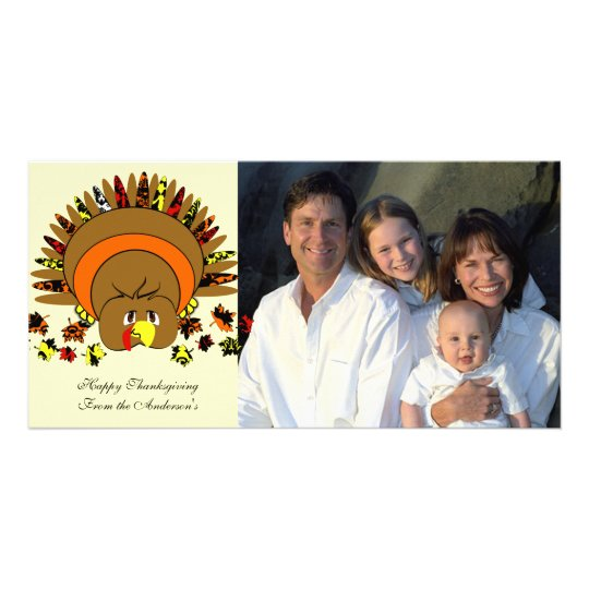 Cute Full Color Turkey Card