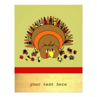 Cute Full Color Turkey Flyer