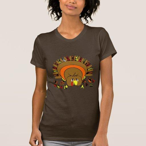 Cute Full Color Turkey T-Shirt