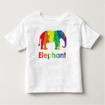 Cute, Fun, and Colorful Rainbow Elelphant Toddler T-shirt