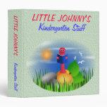 Cute Fun Back to School Kid's Bookworm Binder Vinyl Binders