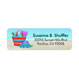 Cute Fun Beach Bag Tote Hat Label