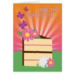 Cute & Fun Birthday Slice for Lady Golfer Greeting Card