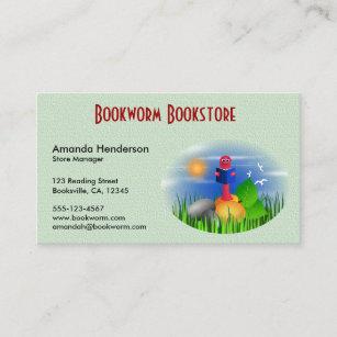 Kids store business cards zazzle cute fun bookworm book store business cards colourmoves