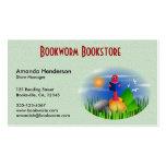 Cute Fun Bookworm Book Store Business Cards