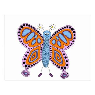Cute Fun Butterfly Postcard