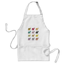 Cute fun camels adult apron