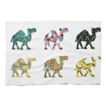 Cute fun camels kitchen towel