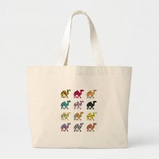 Cute fun camels large tote bag