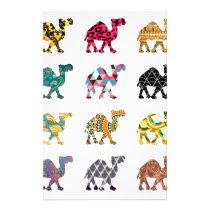 Cute fun camels stationery