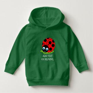 Cute fun cartoon black and red ladybug / ladybird hoodie