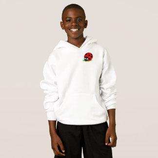 Cute fun cartoon black and red ladybug / ladybird, hoodie