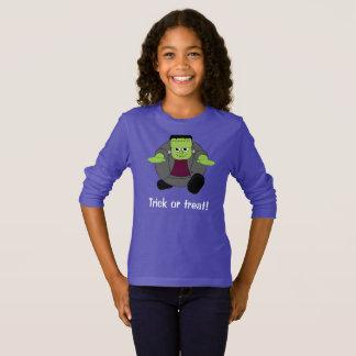 Cute fun cartoon of a green Halloween Frankenstein T-Shirt