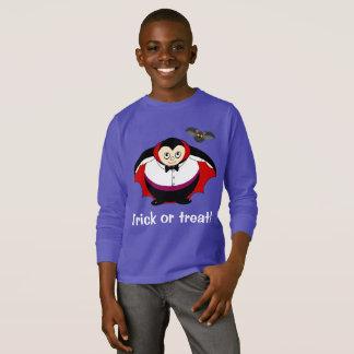 Cute fun cartoon of a Halloween Count Dracula, T-Shirt