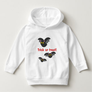 Cute fun cartoon of Halloween black vampire bats, Hoodie