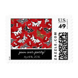 Cute Fun Cartoon Spotted Dogs Doggies Puppy Bones Postage Stamp