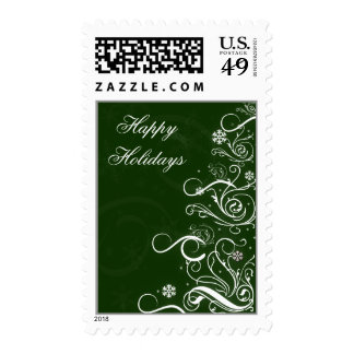 cute fun christmas tree Gifts Postage Stamp