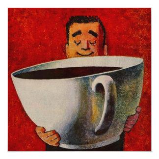 CUTE FUN COFFEE PARTY TEA INVITATION INVITE