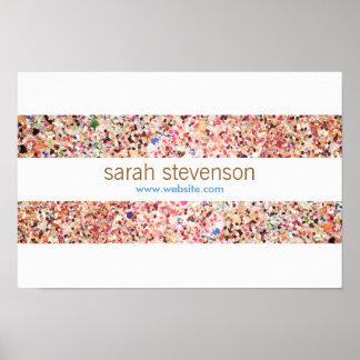 Cute Fun Colorful Confetti Stripes Poster