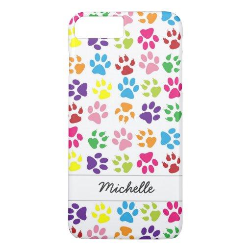 Cute Fun Colorful Pet Print Pattern Personalized iPhone 8 Plus/7 Plus Case