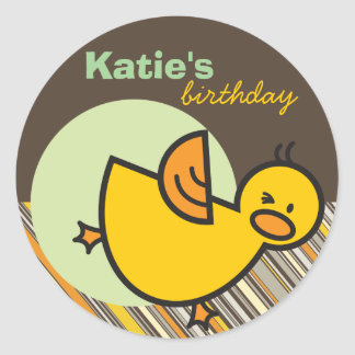 Cute Fun Duckies Ducks Children Kid Birthday Party Stickers