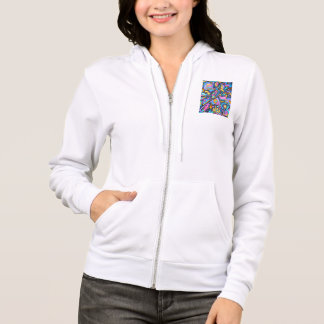 Cute Fun Funky Colorful Bold Whimsical Shapes Hoodie