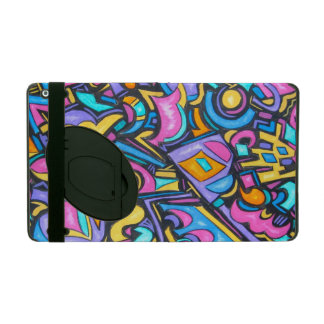 Cute Fun Funky Colorful Bold Whimsical Shapes iPad Case