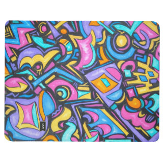 Cute Fun Funky Colorful Bold Whimsical Shapes Journal