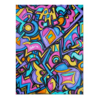 Cute Fun Funky Colorful Bold Whimsical Shapes