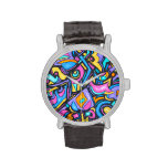 Cute Fun Funky Colorful Bold Whimsical Shapes Wrist Watches