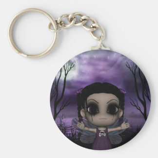Cute Fun Gothic Fairy 1 Keychain