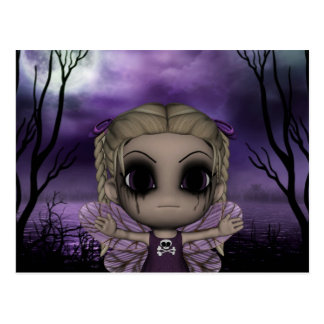 Cute Fun Gothic Fairy 1 Postcard