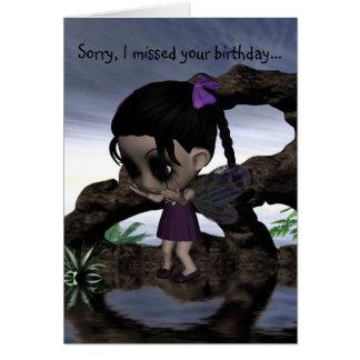 Cute Fun Gothic Fairy Happy Birthday Cards
