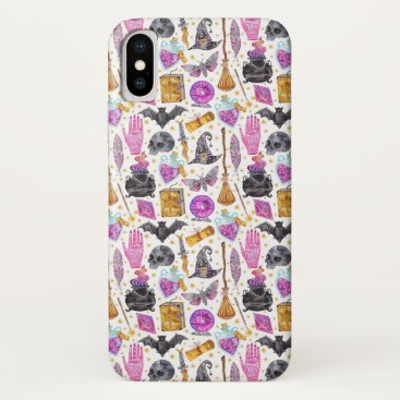 Cute Fun Halloween Pattern iPhone X Case