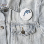 Cute Fun-Loving Cartoon Dolphin Button