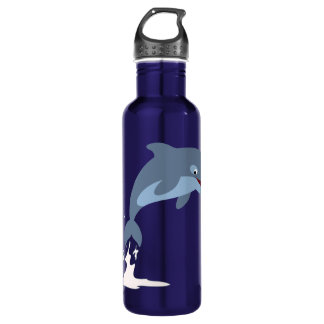 Cute Fun-Loving Cartoon Dolphin Stainless Steel Water Bottle