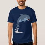 Cute Fun-Loving Cartoon Dolphin T-Shirt