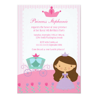 Cute fun princess girl's birthday party invitation