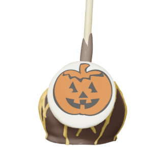 Cute Fun Pumpkin Head Halloween Thanksgiving Cake Pops