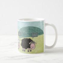 Cute Fun Rebel Sheep Coffee Mug