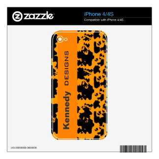Cute Fun Spots Name Golden Colors Decals For iPhone 4