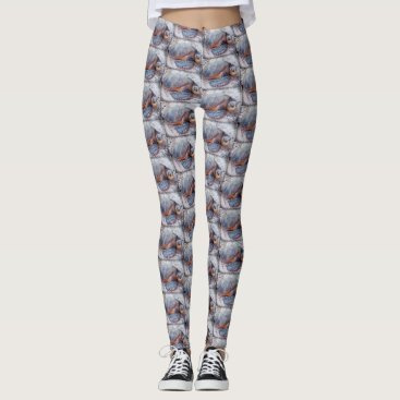 Hawaiian Themed Cute, Fun Stylish Hawaii Sea Turtle Close-up Photo Leggings