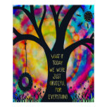 Cute Fun Tree Swing Colorful Classroom Poster