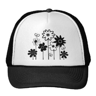 Cute Funky Assorted Flowers With Butterflies Hat