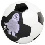 Cute Funny Abominable Snowman Playing Soccer Soccer Ball
