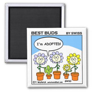 Cute Funny Adoption Cartoon Fridge Magnet