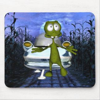 Cute funny Alien In Cornfield 1 Mouse Pad