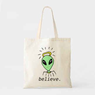 Cute Funny Alien Outer Space Tote Bag